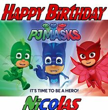Disney themed PJ Masks Personalized Birthday shirt gift, Catboy, Gekko, Gift Tee