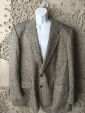 Charing Cross Men's Silk Herringbone Blazer Sport Coat Suit Jacket 48L
