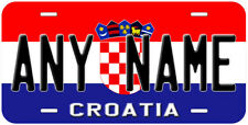 Croatia Flag Personalized Aluminum Novelty Car License Plate