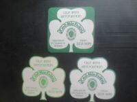 "3 different GUINNESS Australian "" Qld Irish Association  "" Issue BEER Coasters,"
