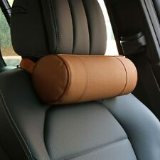 Memory Foam Car Neck Pillow/Genuine Leather Auto Cervical Round Roll Office
