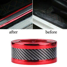 Car Sticker Rubber Protector 5D Carbon Fiber Molding Door Sill Parts Accessories