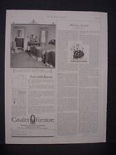 1925 Cavalier Furniture Bedroom Set Home Furnishings Vintage Print Ad 11806