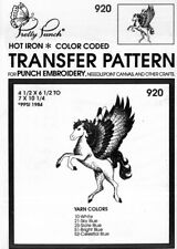 Pretty Punch Iron Transfer Patterns Punch Embroidery 920 Winged Horse