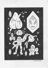 Original Art/ Drawing: 'Rock People' 2016 - A4 by Jack Teagle