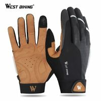 WEST BIKING Bike Bicycle Gloves Full Finger Sports Breathable Cycling Gloves