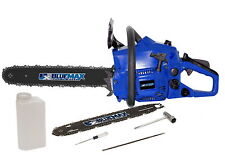 "Blue Max New 14"" & 18"" Combo Gas Chainsaw 38cc 2 Cycle EPA MPN/Model 52721"