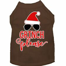 Mirage Pet Products Grinch Please Screen Print Dog Shirt Brown XS (8)