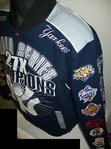 NEW YORK YANKEES 27 TIME Ultimate WORLD SERIES CHAMPIONSHIP Cotton Jacket 2020