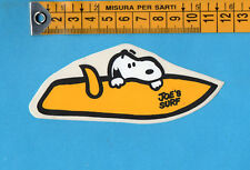 ADESIVO/STICKER (46)- PEANUTS SNOOPY JOE'S SURF - vintage - cm.4,5X11