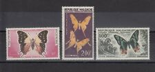 TIMBRE STAMP 3 MADAGASCAR Y&T#80-82 PAPILLON BUTTERFLY NEUF**/MNH-MINT 1960 ~C60
