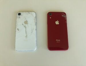 Lot of two (2) Apple iPhone XR - Product Red & White - A1984 - For Parts Only