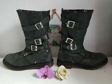 UK 8 EU 42 US 10 JARA  grey buckles dr Martens high boots
