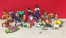 Large Lot Of Mix Disney Toys Little Mermaid Aladdin Hercules Burger King