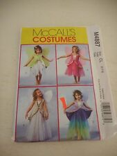 McCalls  M4887 Halloween Costume Sewing pattern Sz 6-7-8 uncut fairy with wings