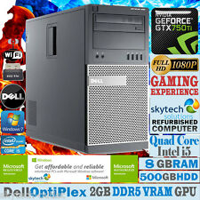 ULTRA FAST Dell Gaming PC QUAD CORE i5 8GB 500GB WIN 7 CHEAP DESKTOP GTX 750 Ti