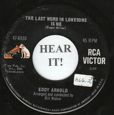 Eddy Arnold C&W 45 (RCA VICTOR 8818) The Last Word in Lonesome is Me / Mary  M-