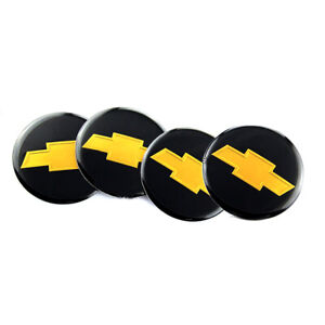 4X 2.56'' 65MM Fit Chevrolet Emblem Sticker Badge Wheel Hub Caps Centre Cover