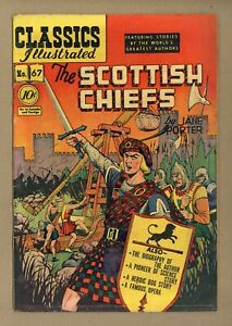 Classics Illustrated 067 The Scottish Chiefs #1 GD 2.0 1950 Low Grade