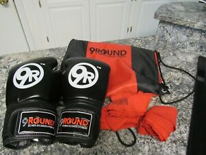 Leather Pro 9Round Fitness 10oz Black/Red Boxing Gloves & More Kickboxing Unisex