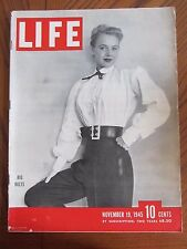 Life Magazine Big Belts November 1945