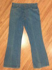 Vtg 70s LEVIS 646 Denim Bell Bottom Flare Jeans Orange Tab Talon 38x32 37x31 USA