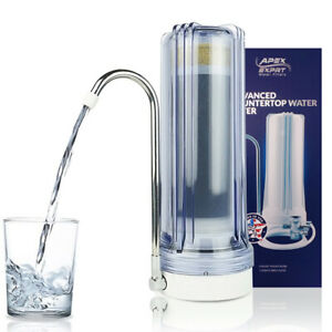 APEX MR-1030 5 Stage KDF Carbon GAC Purifier Countertop Sink Water Filter Clear