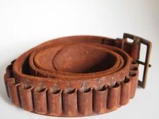 WW2 AUSTRALIAN Vtg Antique MILITARY Ammo Leather Belt BONNEY CLARK LTD MAKERS