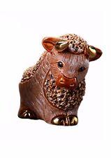 More details for de rosa confetti bull figurine ornament (brown)
