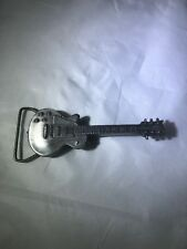 Vtg Guitar Belt Buckle Bergamot Brass Works 1981 Made In Usa