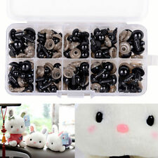 100pc/Set Black Plastic Safety Eyes for Teddy Plush Doll Puppet DIY Craft 6-12mm