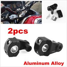 "2pcs Black Universal Motorcycle Handlebar Clamp Fat Bar Kit For 7/8"" or 1 1/8"""