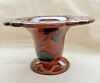 Vintage Royal Haeger USA Pedestal Toothbrush Holder Brown Glazed Finish