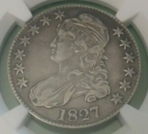 1827 Square Base 2 NGC XF40 Capped Bust Half Dollar O-106 Overton Variety 50c