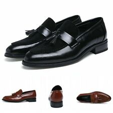 British Men Faux Leather Pointed Toe Slip On Tassels Business Dress Shoes Club L