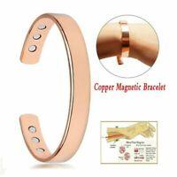 Pure Copper Bracelet Magnetic Healing Bio Therapy Arthritis Pain Relief Bangle U