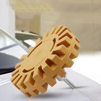 "4"" inch Rubber Eraser Wheel Adhesive Sticker Pinstripe Decal Graphic Remover kjh"