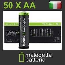 50 Batterie  Stilo AA LR6 Pile MaledettaBatteria  Alta Capacità Alcaline
