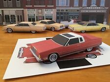 Papercraft Chrysler New Yorker Red PaperCar EZU-MakeIt 1976-1978 Toy Model Car