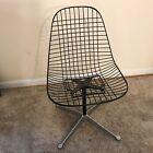 Vintage Herman Miller Eames MCM Wire Swivel Chair