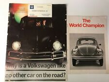 2 Vintage Brochures - World Champion and Why is a Volkswagen Like No Other Car