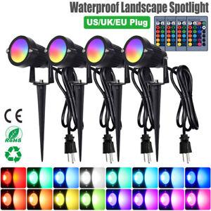 5W LED Gartenlampe Spot Licht Gartenstrahler Wasserdicht Beleuchtung RGB Außen