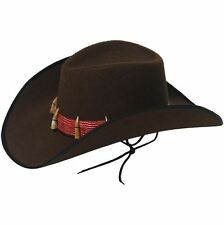 Mens Crocodile Dundee Croc Wrangler Hat with Teeth and Fake Skin Trim