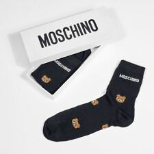 Men's Moschino Black Socks, Bear Pattern. Sale! Christmas Present. XL / 10-12