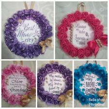 Loving Mom Hanging Card,Purple Roses, Wall Hanger,Birthday Gift, Happy Mothers D