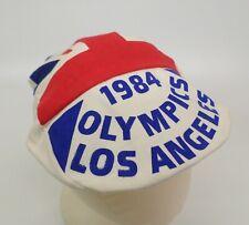1984 Olympics Cabbie Hat Cap Los Angeles British Flag Union Jack Bowstone Brand