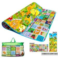 2 Side Kids Crawling Educational Game Baby Play Mat Soft Foam Carpet Large Floor