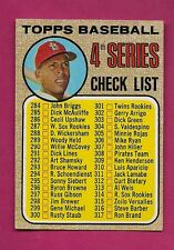 1968 TOPPS # 278 UNMARKED BASEBALL CHECKLIST  EX+  CARD (INV# A1988)