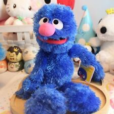 Authentic Sesame Street GROVER Furry Plush Blue Soft Stuffed Toy 32cm