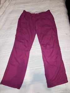Koi by Kathy Peterson Pink Size Large Tall Cargo Scrub Pants Style #701T
